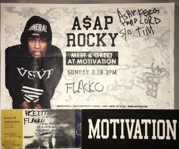 ASAP Rocky DJ Ell Meet & Green And Concert Flyer