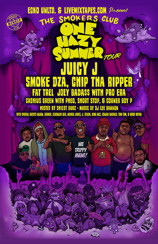 Smokers Club Tour Juicy J, Chip Tha Ripper, Smoke DZA, Chevy Woods, DJ Ell