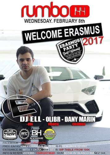 DJ Ell Rumbo 144 Flyer 2.8.17 Spain
