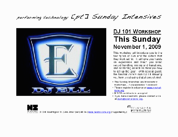 DJ Ell Workshop Neutral Zone