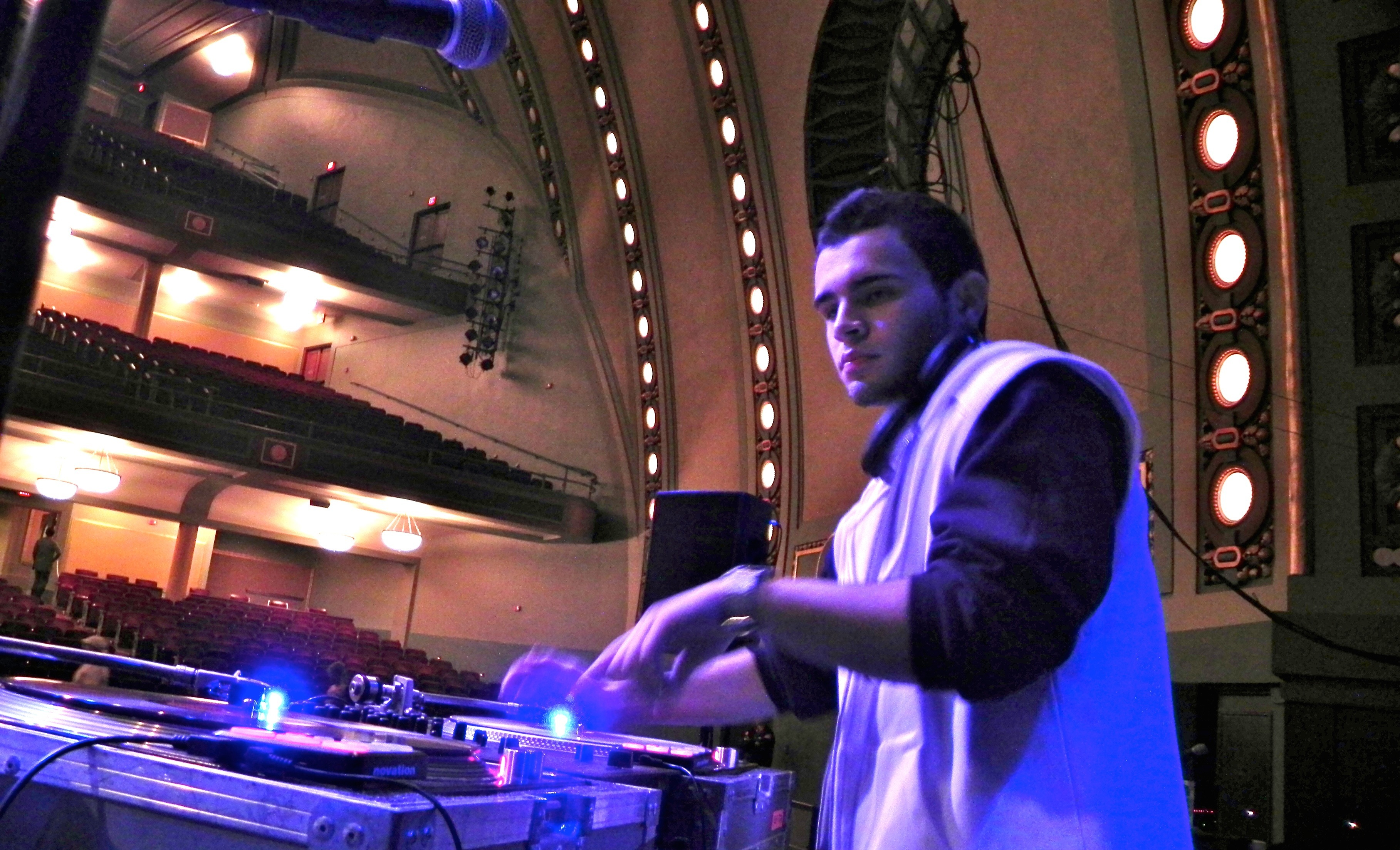 DJ Ell at Hill Auditorium WIth Wale, Soundcheck