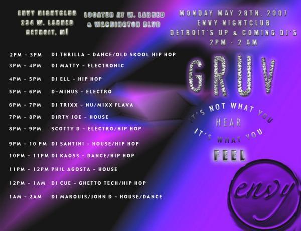 Envy Nightclub DEMF Flyer with DJ Ell