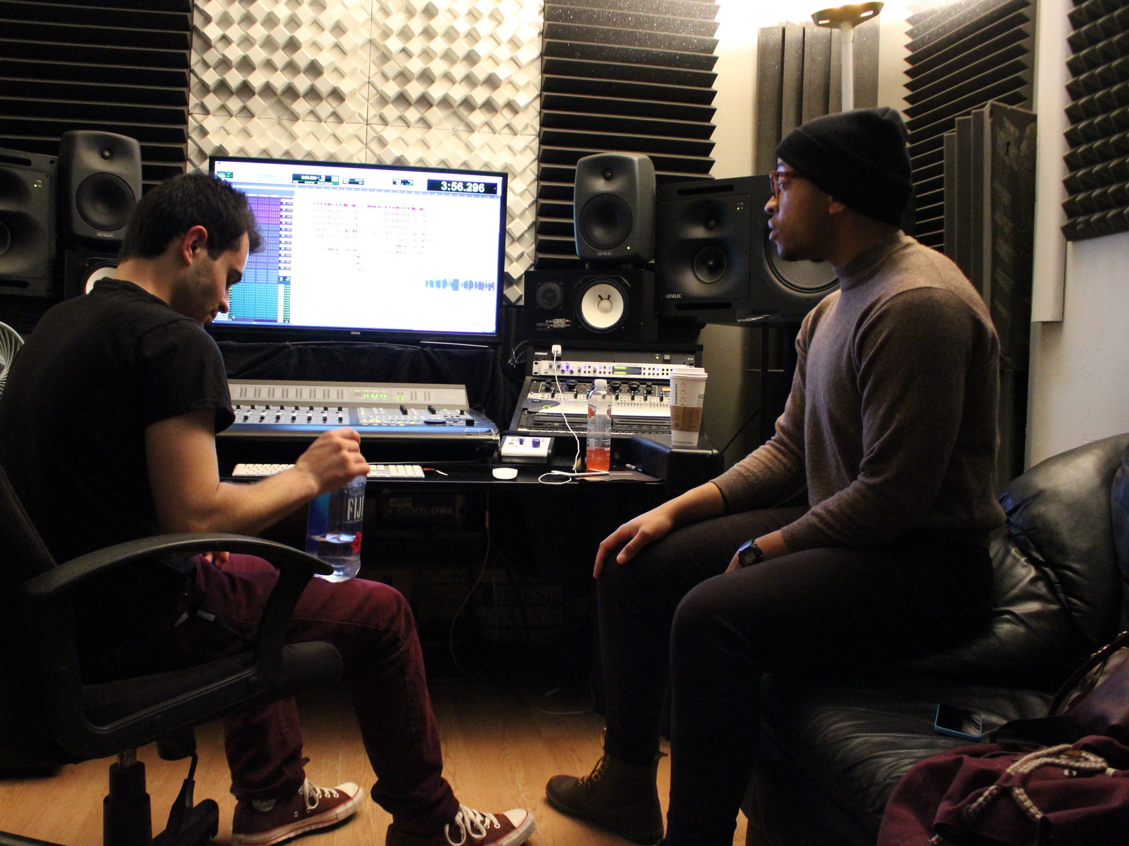 DJ Ell and Will Fairbanks In The Studio