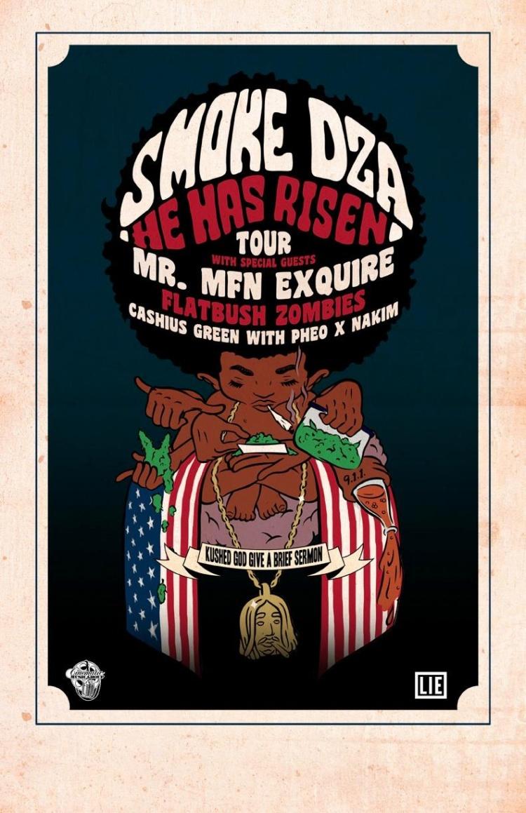 Smoke DZA He Has Risen Tour with DJ Ell