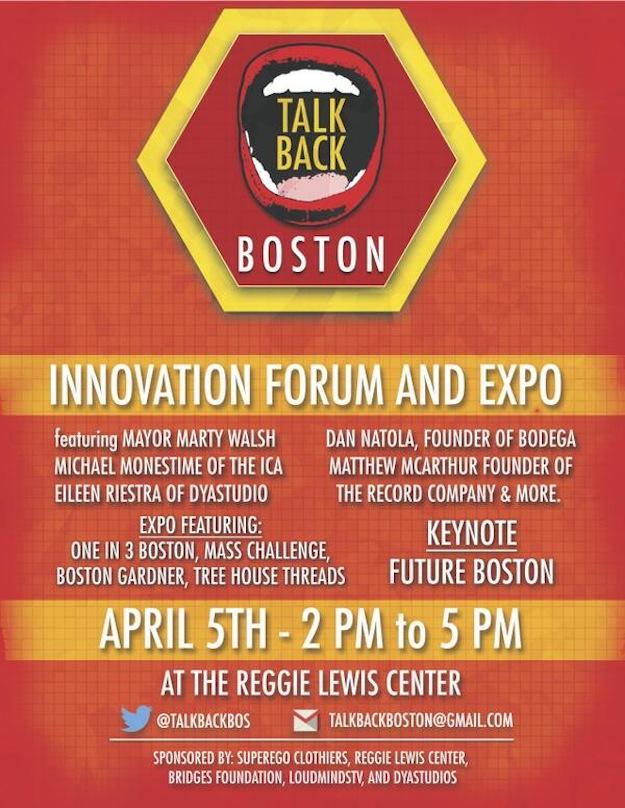 Talk Back Boston Flyer Mayor Marty Walsh with DJ Ell