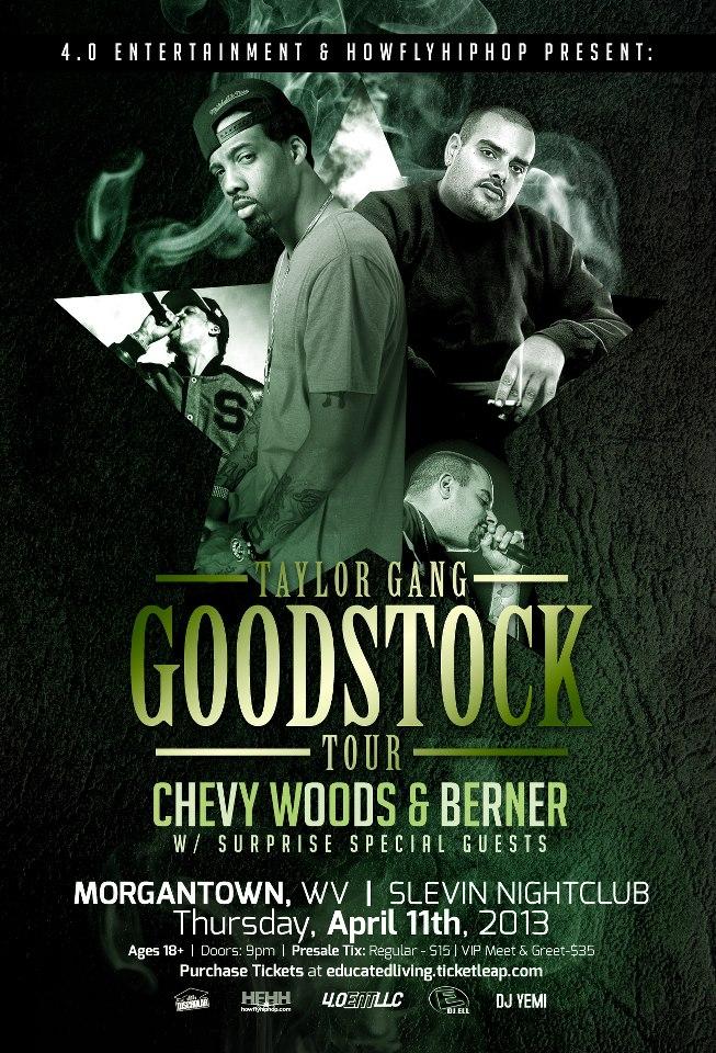 Taylor Gang, Goodstock Tour, Morgantown, West Virginia