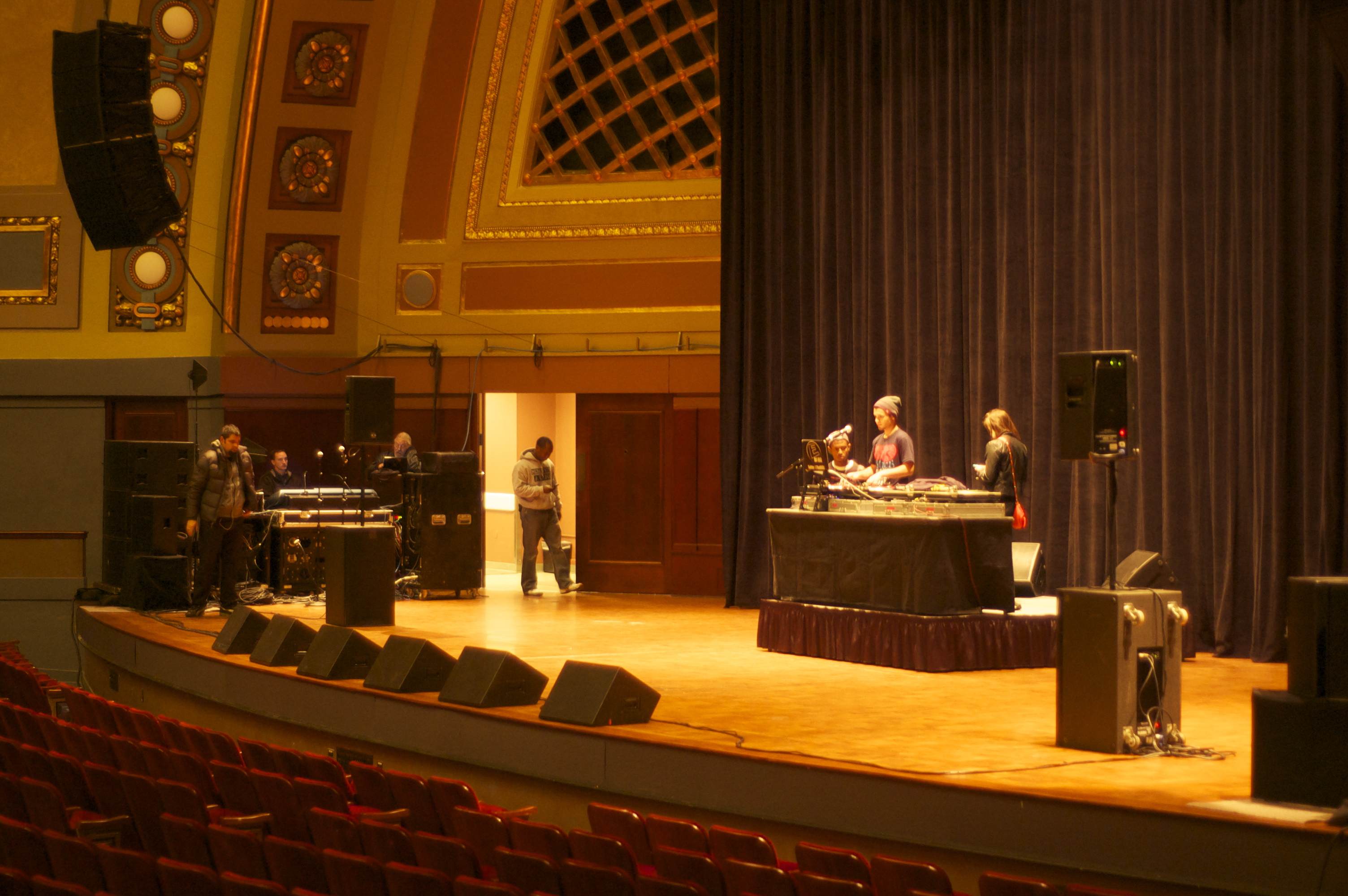 DJ Ell at Hill Auditorium Soundcheck