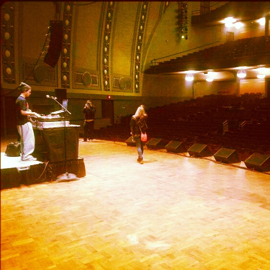 That DJ Ell at sound check Hill Auditorium U of M