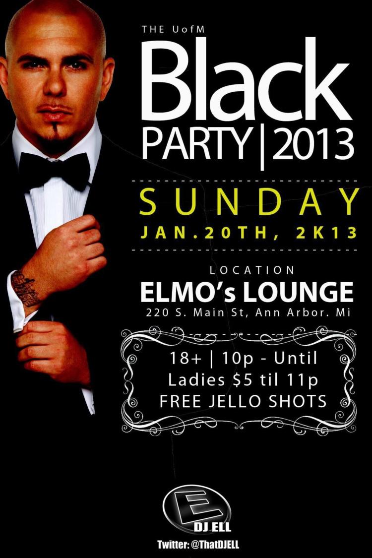U of M Black Party DJ Ell Elmo's Ann Arbor